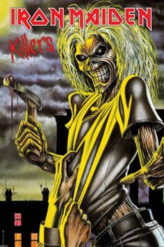 Iron Maiden (Killers) Music Poster Print - Poster Print, PDecorate your home or office with high quality posters. Iron Maiden (Killers) Music Poster Print - is that perfect piece that matches your style, interests, and budget. Iron Maiden Album Covers, Iron Maiden Cover, Iron Maiden Albums, Eddie Iron Maiden, Iron Maiden Band, Arte Heavy Metal, Heavy Metal Music, Heavy Metal Bands, Rock Posters