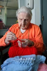 Knitting, crochet work keep 101-year-old busy Republican American #crochet