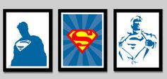 Superman Print Set by EdmondsonbyDesign on Etsy, $27.00