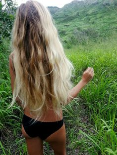 "pretty hair and envious length but all i can think is...""her legs are probably covered in ticks"" haha"
