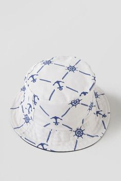fffad9ee804 Nautical Bucket Hat. Perfect hat for a nautical beach outfit. Nautical  Prints