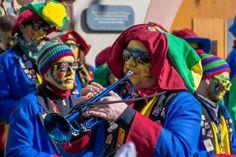 #baden wrttemberg #carnival #close #costume #customs #dressed up #fasnet #fools guild #head #masquerade #music #music group #musician #panel #portrait #strassenfasnet #swabian alemannic