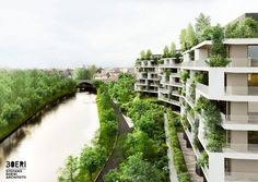stefano boeri architetti to construct urban forest in treviso, northern italy Australian Architecture, Facade Architecture, Design Blog, Design Studio, Design Trends, Balcony Herb Gardens, Vertical Forest, Riverside Apartment, Small Buildings