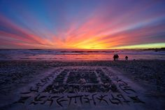 Beautiful African Beach Calligraphy by Andrew van der Merwe - My Modern Metropolis
