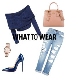 """""""Untitled #6"""" by stella1212 on Polyvore featuring Genetic Denim, Christian Louboutin, Prada and Marc by Marc Jacobs"""