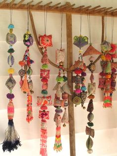 I collect them from the places I visit…But I can also make them my one, right? Gypsy Decor, Bohemian Decor, Boho Gypsy, Fun Crafts, Diy And Crafts, Arts And Crafts, Creation Couture, Mobiles, Textile Art