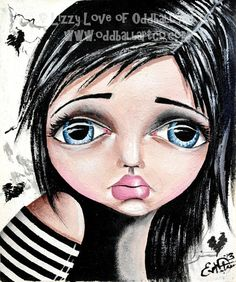 Big Eye Art Mixed Media Giclee Print Signed Reproduction Day