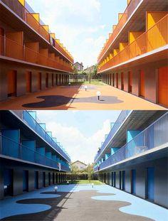 Student Housing by Emmanuel Combarel Dominique Marrec Architectes, in Epinay sur seine, France