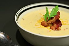 This soup uses a bottle of Michelob Amber Bock beer.  Rich and creamy and perfect for those cold winter nights.