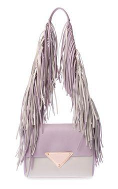 Shop Teresa+Shoulder+In+Grey+by+Sara+Battaglia+for+Preorder+on+Moda+Operandi
