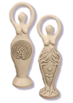 """Labyrinth Goddess Statue 7 1/4"""" - pagan wiccan witchcraft magick ritual supplies"""