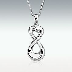 Infinite Love Sterling Silver Cremation Jewelry - Engravable