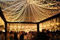 draped canopy of lights