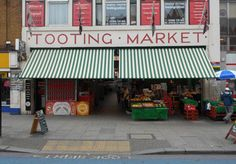 New shop blinds at Tooting market