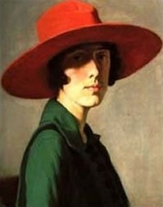 William Strang (1859–1921)   Lady with Red Hat (Vita sackville west) Dateca. 1910