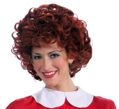 The sun will come out tomorrow when you optimistically don our Orphan Annie Adult Wig. America's favorite curly red-headed orphan girl will come to life as you re-create the rags-to-riches story during cosplay. Our women's Annie Wig features auburn red synthetic hair in a mop of curls styled after little orphan Annie's signature curly hairstyle of spiral curls. All one needs is the red dress to complete the character with an authentic look. Our Little Orphan Annie Wig for adults is an ideal…