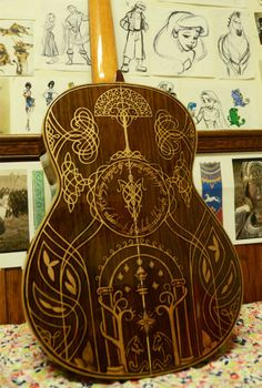 LOTR guitar -- absolutely gorgeous!!