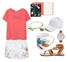 """""""{293}"""" by lilyschaefer ❤ liked on Polyvore featuring Topshop, rag & bone, MANGO, Breckelle's, Christian Lacroix, Olivia Burton, Kate Spade and Alex and Ani"""