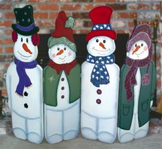Folding Snowmen