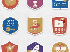 social networking icons / badges