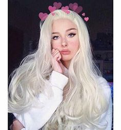2020 Fashion Blonde Wigs For White Women A Blonde Wig 7N Hair Color Sl - Wcwigs Dark Brunette Hair, Ash Blonde Hair, Loose Curls Hairstyles, Wig Hairstyles, Synthetic Lace Front Wigs, Synthetic Hair, Light Ash Blonde, Kinky Curly Wigs
