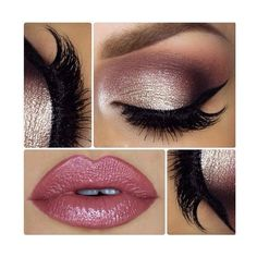 Gorgeous Pink Lips and Eye Makeup for Prom 2016 ❤ liked on Polyvore featuring beauty products