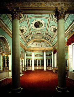 The Library, Kenwood, London, 1767-69 ~ by the great architect Robert Adam