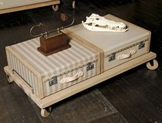 Vintage Luggage Furniture by Emmanuelle Legavre - Love, love, love this. Did my parents throw out all those suitcases?
