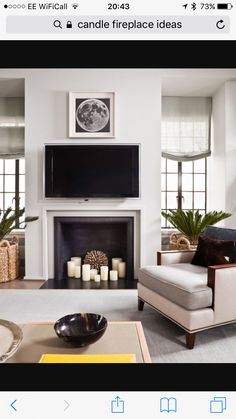 Old Marble Fireplace wood fireplace craftsman style.Fireplace Drawing Home. Candles In Fireplace, Small Fireplace, Living Room With Fireplace, Fireplace Design, My Living Room, Living Room Decor, Fireplace Ideas, Fireplace Cover, Fireplace Outdoor
