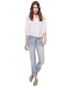 Destroyed Straight Leg Jeans | FOREVER 21 - 2000022576