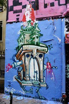 ? & Paddy - street art - Paris 20 - rue Dénoyez