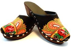 Brown Viana scarf handmade clog n38 by Princezices on Etsy,   these are gorgeous! Need for my collection :)