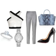 """""""Business Lunch"""" by reviewingmami on Polyvore"""