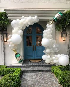 champagne bubble balloon garland atlanta balloons
