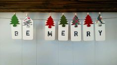 Be Merry Christmas Holiday Hangtag Banner Clothes Pins Décor Clips Christmas Tree Reindeer Ornament Bunting Sign DIY Garland Paper Noel by SweetThymes on Etsy https://www.etsy.com/listing/254076767/be-merry-christmas-holiday-hangtag