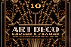 ArtDeco Badges & Frames by Cruzine on Creative Market