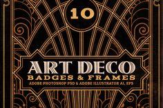 ArtDeco Badges & Frames by Cruzine on Creative Market
