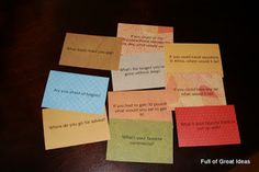 Conversation Starter Cards for family, or how about improving marriage communication- or a love game