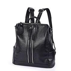 65b409bd045a4 Vbiger Damen Rucksack Leder Daypack Synthethisch Leder Rucksack  Schulrucksack Backpack  Amazon.de  Koffer