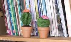 Patrón cactus amigurumi Catus, Pin Cushions, Cactus Plants, Free Crochet, Diy And Crafts, Snoopy, Deco, Pattern, Lana