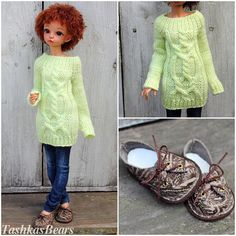 Summer Sale Minifee Outfit Light green & Jeans