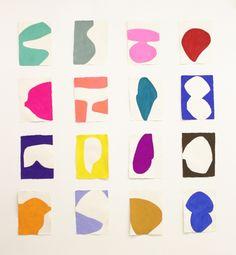 Colorful, abstract artwork by Marina Adams. Motifs Organiques, Guache, Shape Art, Art Graphique, Grafik Design, Minimalist Art, Textures Patterns, Oeuvre D'art, Diy Art