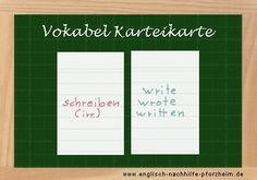Lernt man SO heute noch Vokabeln? ► Tipps zum Lernen der unregelmäßigen Verben! http://www.englisch-nachhilfe-pforzheim.de/irregular-verbs-zum-download/