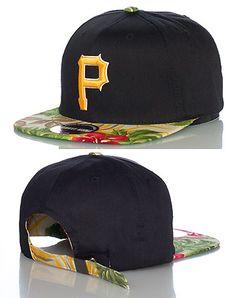 a6159fa1eddf7 AMERICAN NEEDLE MENS PITTSBURGH PIRATES STRAPBACK CAP Black Pittsburgh  Pirates Baseball