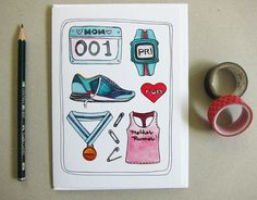Mother's Day Card  Card for Runner Mom  Mom Runner by michelemaule