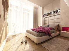 nowoczesna sypialnia w neutralnych barwach