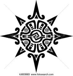 mayan, o, incan, simbolo, di, uno, sole, o, stella Visualizza la Grafica Clip Art ingrandita