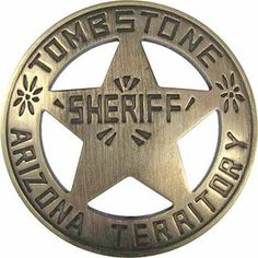 Tombstone Western Sheriff Badges - Bing Images