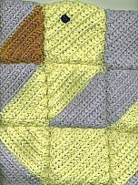DUCKS IN A ROW SQUARES ~ free pattern