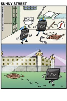 Time for a little humor to lighten up the day. Humour Geek, Tech Humor, Nerd Jokes, Funny Cartoons, Funny Comics, Funny Jokes, Hilarious, Cartoon Humor, It's Funny